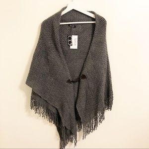 Jackets & Blazers - Cape shawl gray one size s m l xl xxl cape